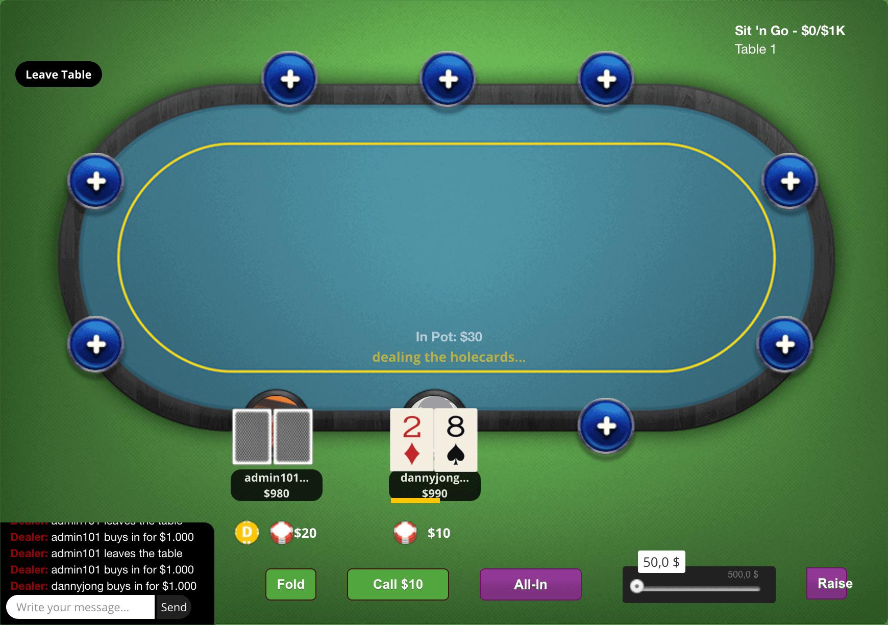 Multiplayer Poker Script