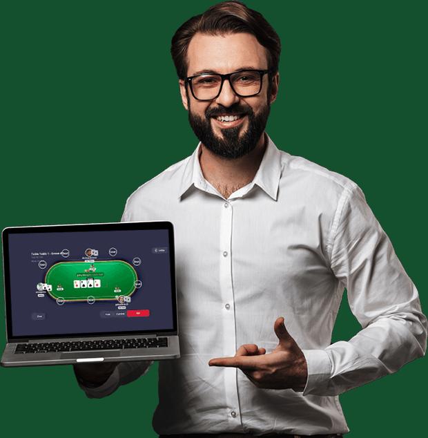 Online Poker Script Laptop Gameplay